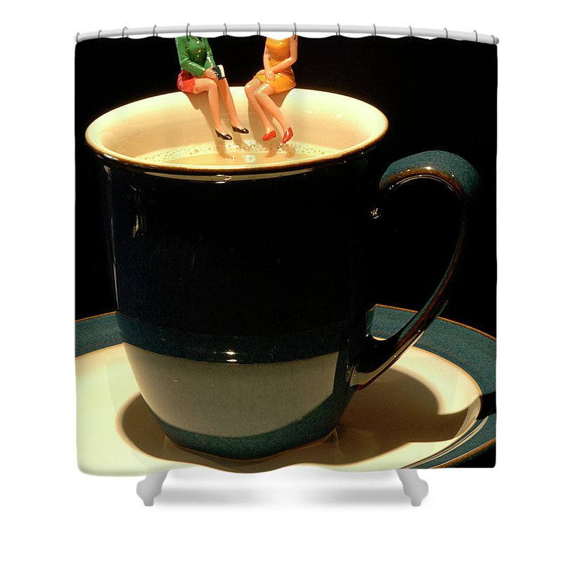Fun Shower Curtain featuring the photograph Coffee Break by Bob Christopher