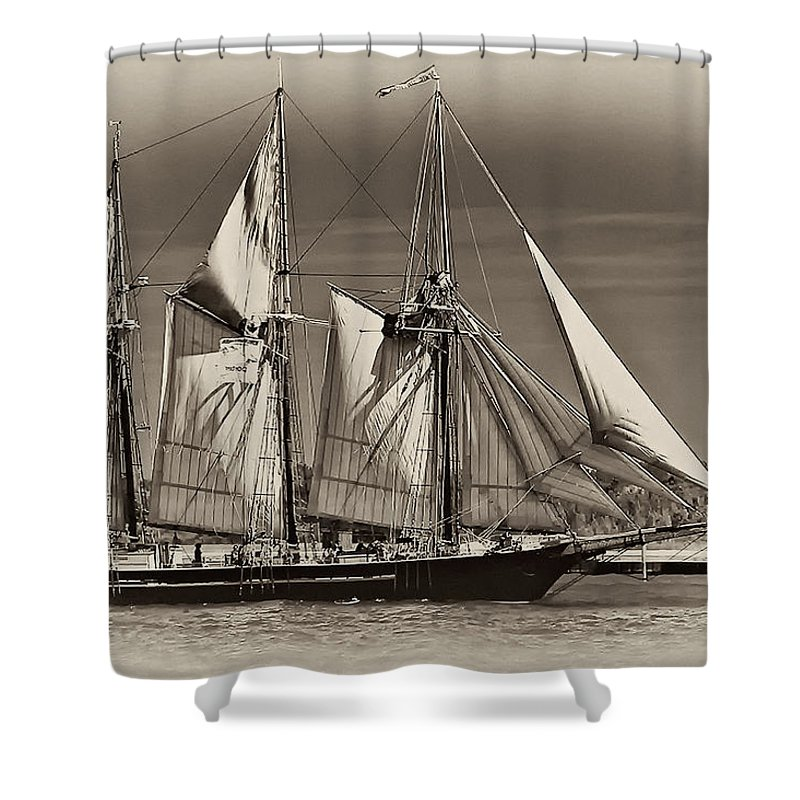 Tall Ship Shower Curtain featuring the photograph Tall Ship II by Steve Harrington