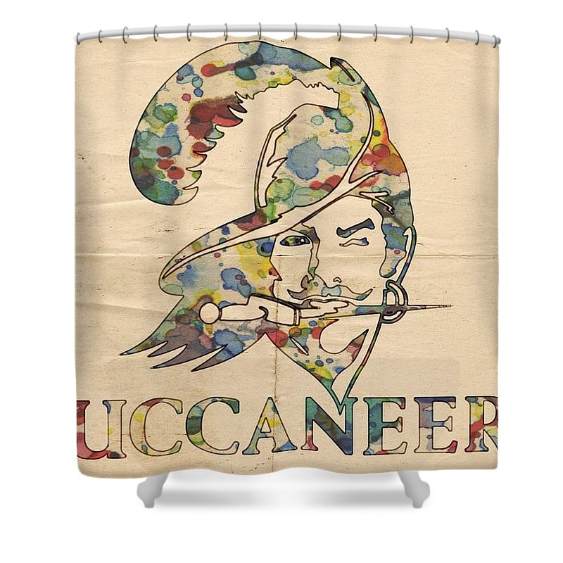 tampa bay buccaneers old logo shower curtain for sale by florian rodarte fine art america