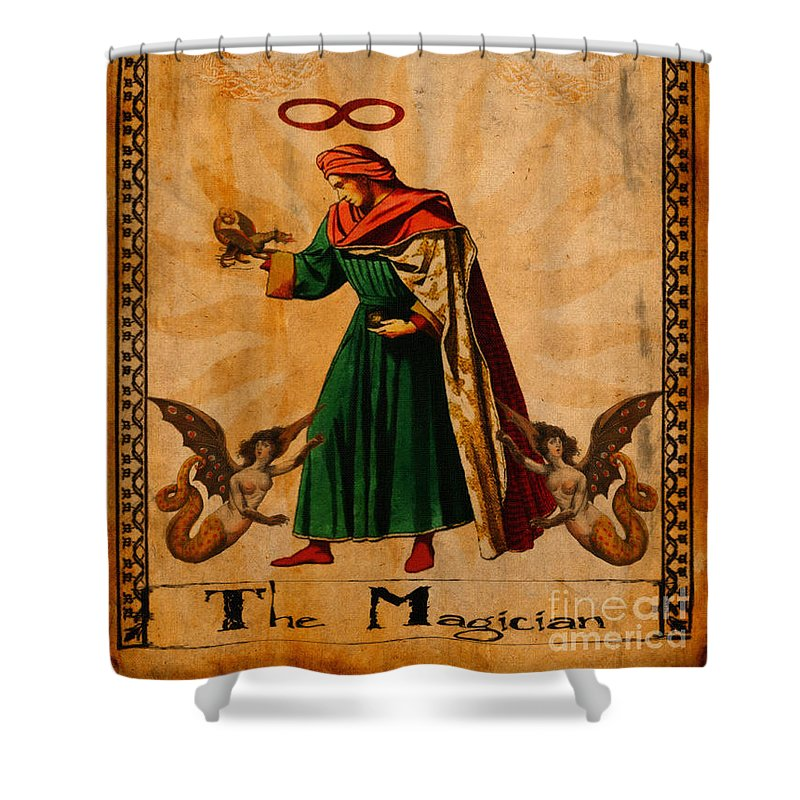 Tarot Card The Magician Shower Curtain