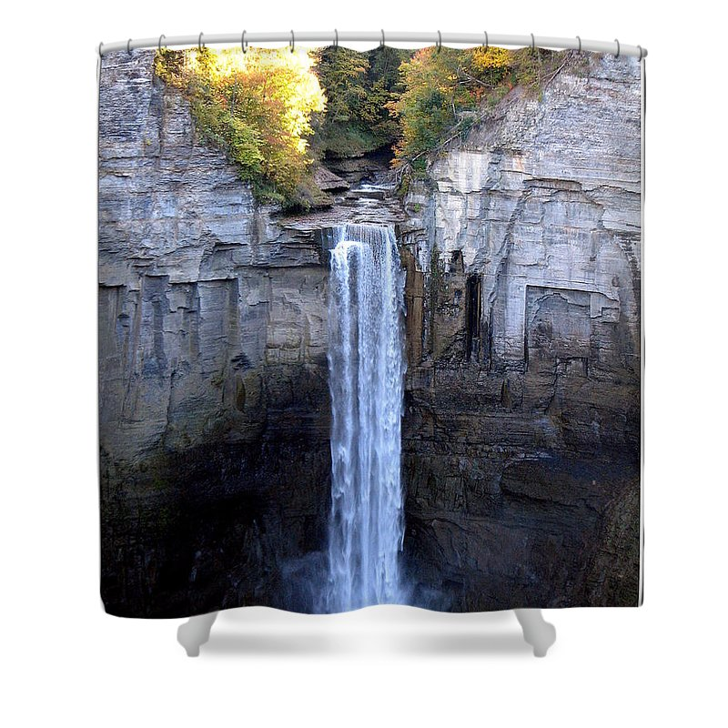 Taughannock Falls Shower Curtain featuring the photograph Taughannock Falls by Rose Santuci-Sofranko