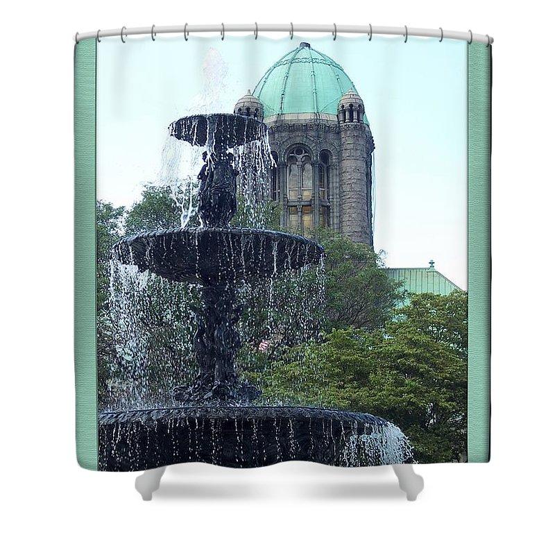 Taunton Green Shower Curtain featuring the photograph Taunton Landmarks by Georgia Hamlin
