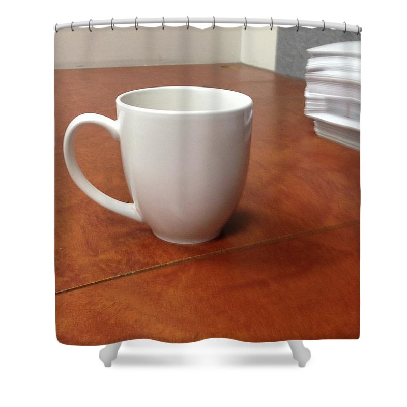Tea Shower Curtain featuring the pyrography Tea Time by Gary Lester