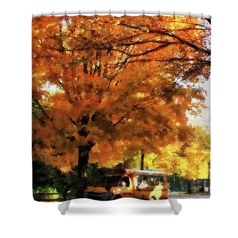 Autumn Shower Curtain featuring the photograph Teacher - Back To School by Susan Savad