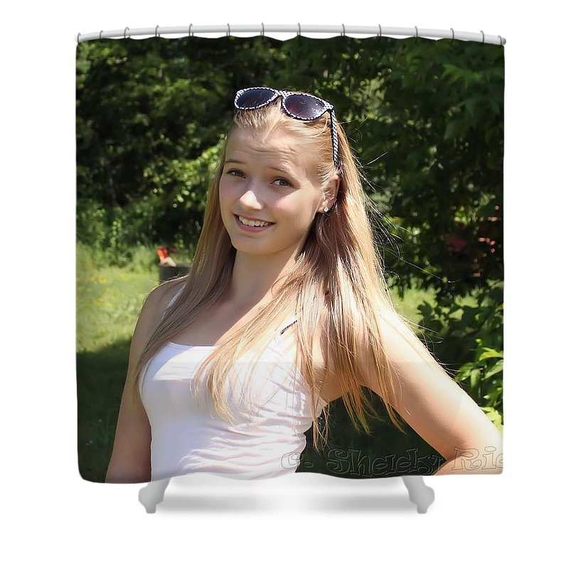 Teen Shower Curtain featuring the photograph Teen Beauty by Janice Byer