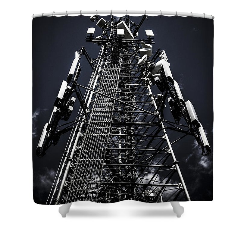 Cell Phone Tower Photographs Shower Curtains