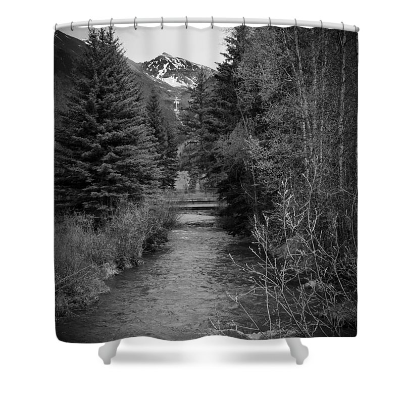 Telluride Shower Curtain featuring the photograph Telluride Stream by Debbie Karnes