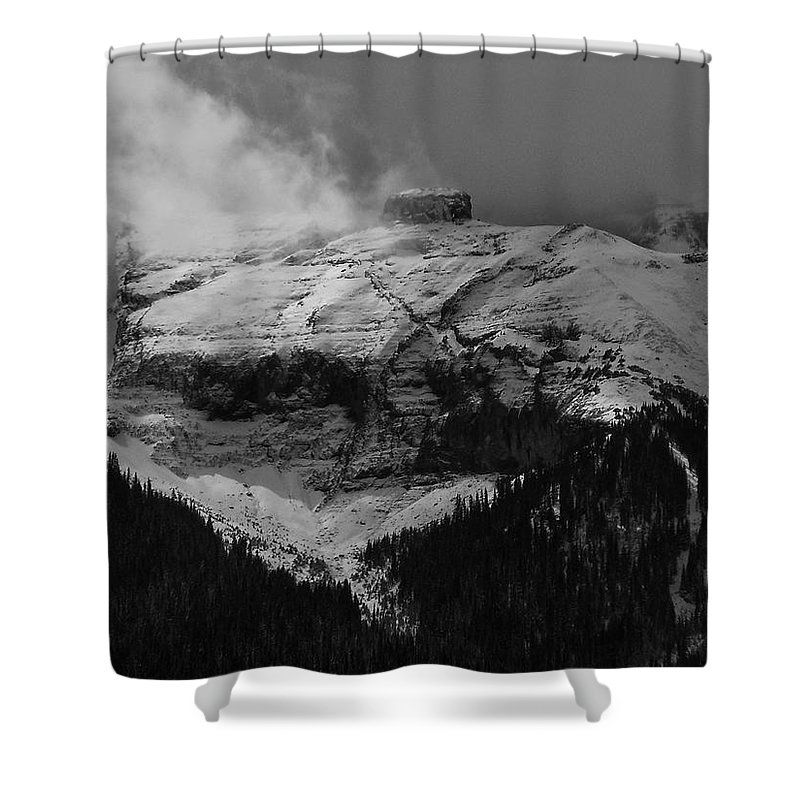 Colorado Photographs Shower Curtain featuring the photograph Tempest On Teapot Mountain by Gary Benson