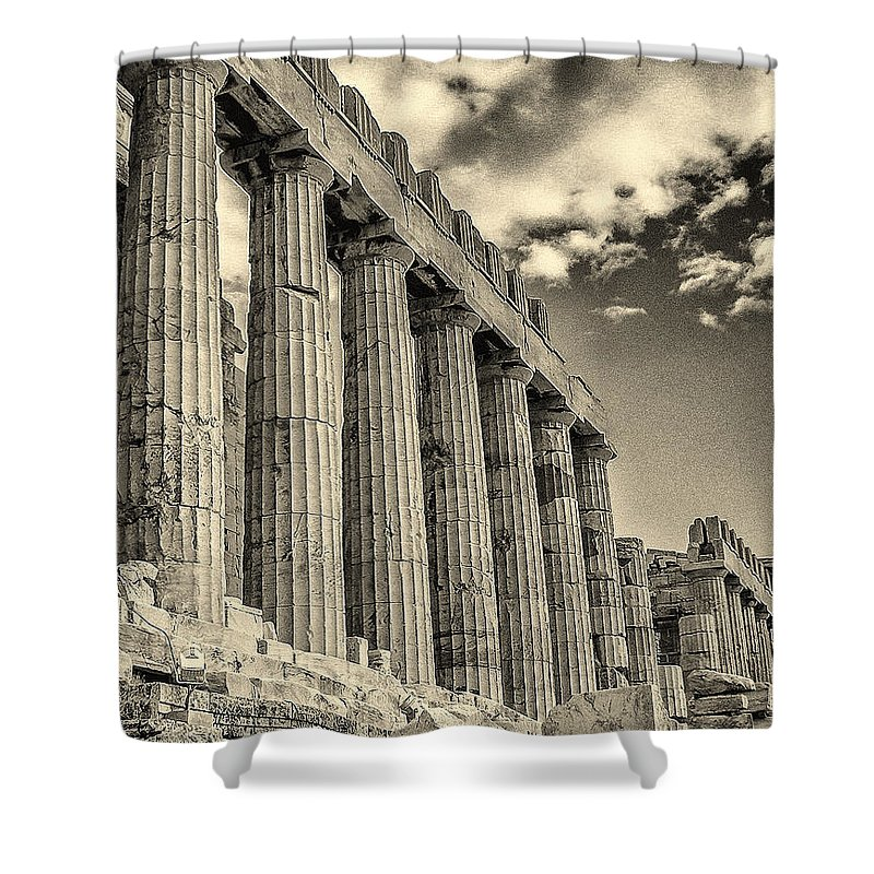Greece Shower Curtain featuring the photograph Temple Of Athena by Jeff Watts