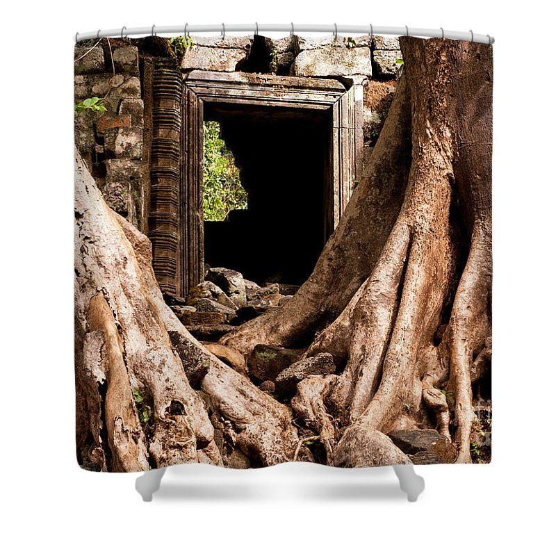 Ruined Shower Curtain featuring the photograph Temple Ruins 01 by Rick Piper Photography