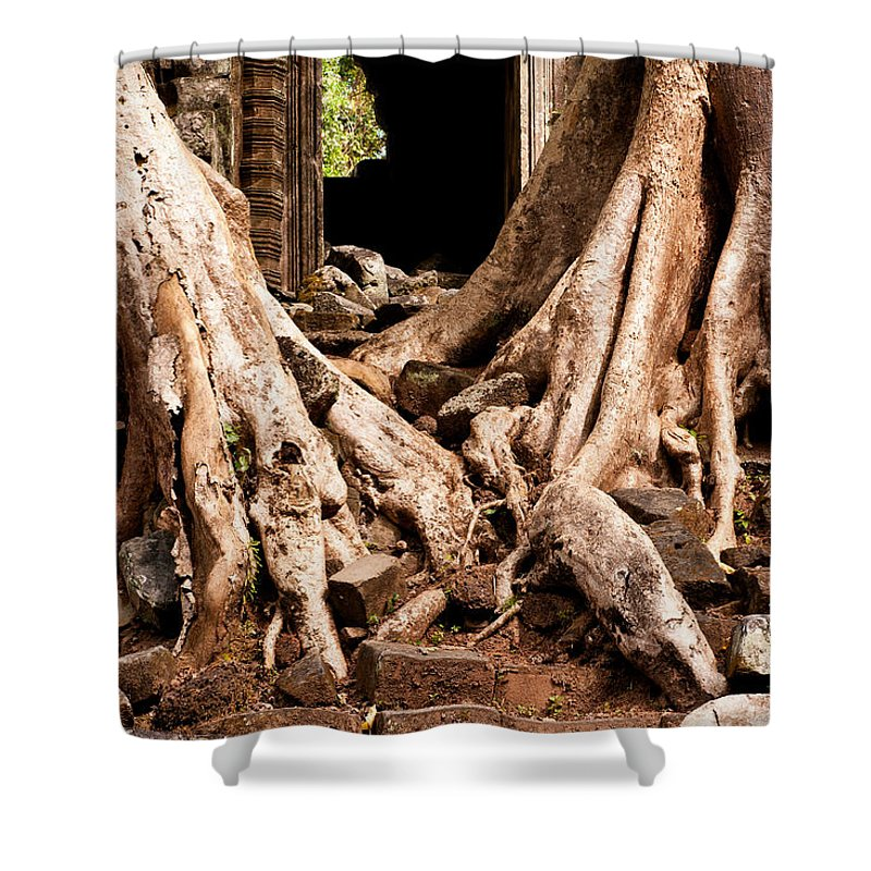 Ruined Shower Curtain featuring the photograph Temple Ruins 02 by Rick Piper Photography