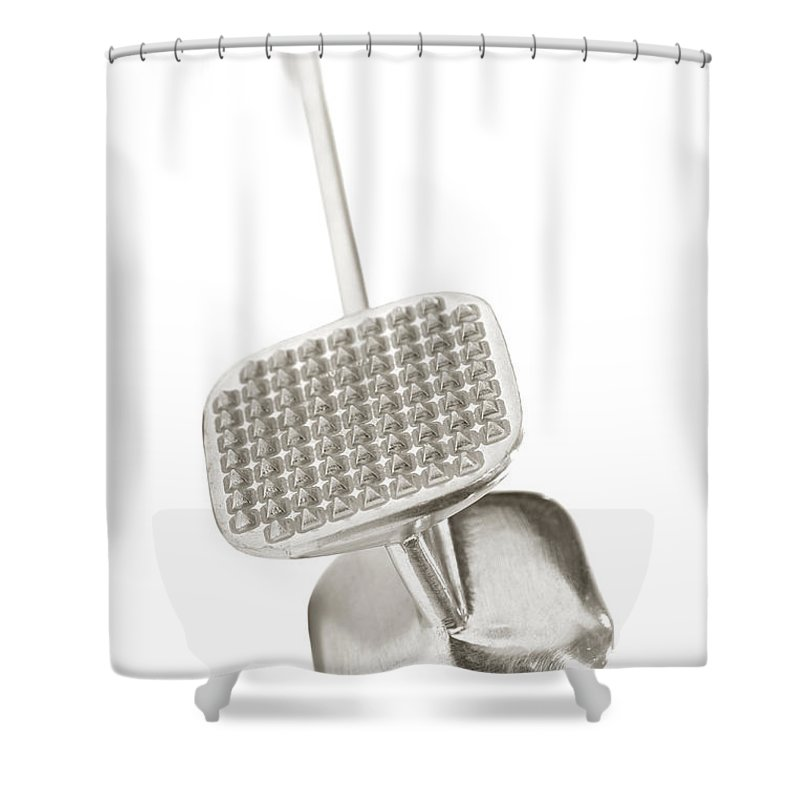 Meat Shower Curtain featuring the photograph Tenderizer by Olivier Le Queinec