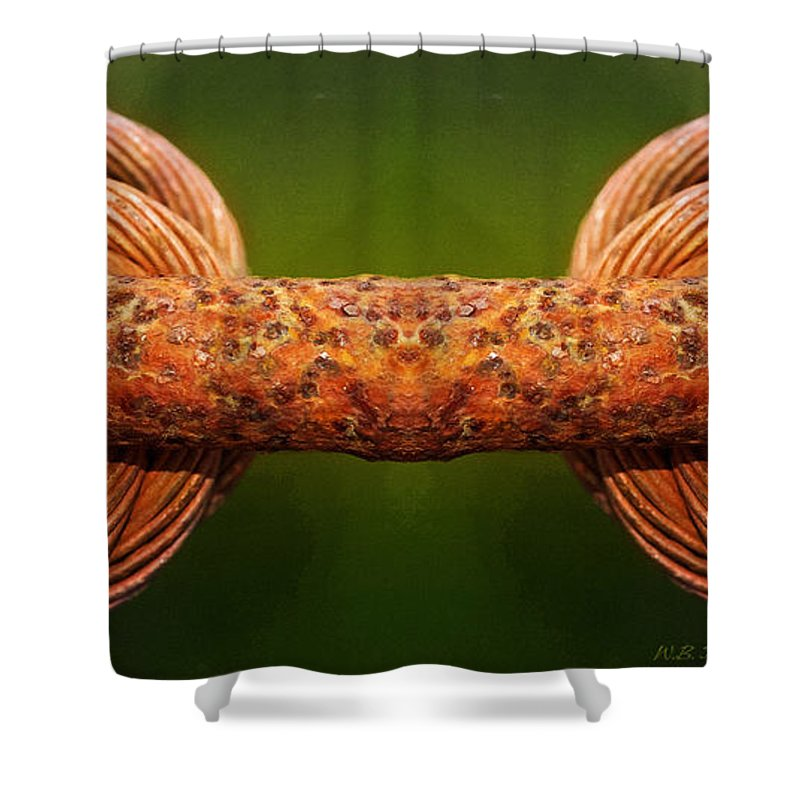 Rust Shower Curtain featuring the photograph Tension by WB Johnston