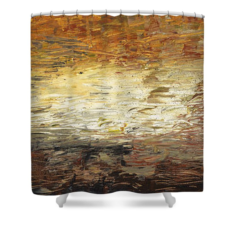 Terra Shower Curtain featuring the painting Terra by Nadine Rippelmeyer
