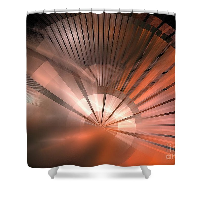 Apophysis Shower Curtain featuring the digital art Tessen by Kim Sy Ok