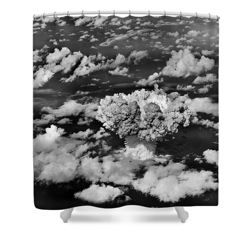 Atomic Shower Curtain featuring the photograph Test Baker by Benjamin Yeager