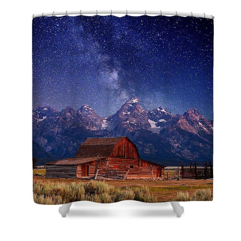 Grand Teton Shower Curtain featuring the photograph Teton Nights by Darren White