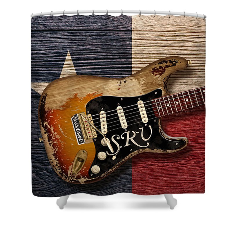 Blues Shower Curtain featuring the digital art Texas Blues by WB Johnston