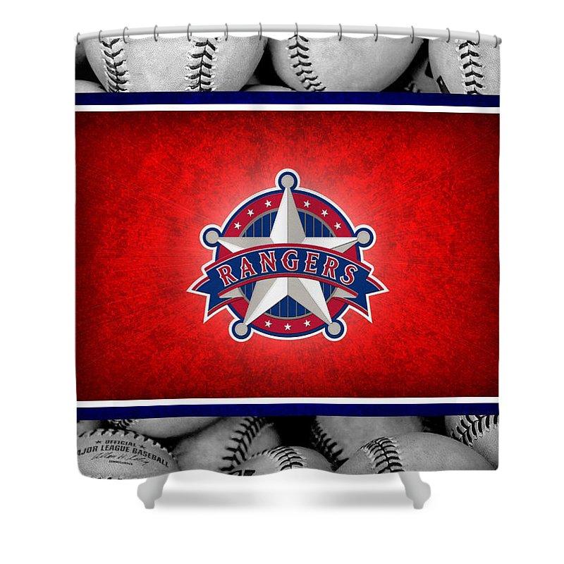 Rangers Shower Curtain featuring the photograph Texas Rangers by Joe Hamilton