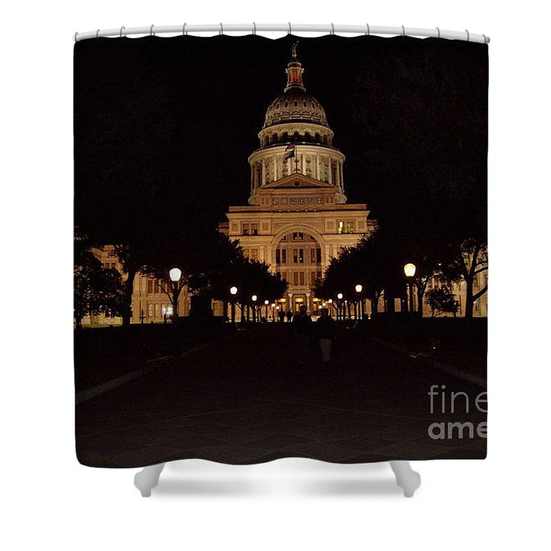 Texas State Capital Shower Curtain featuring the photograph Texas State Capital by John Telfer