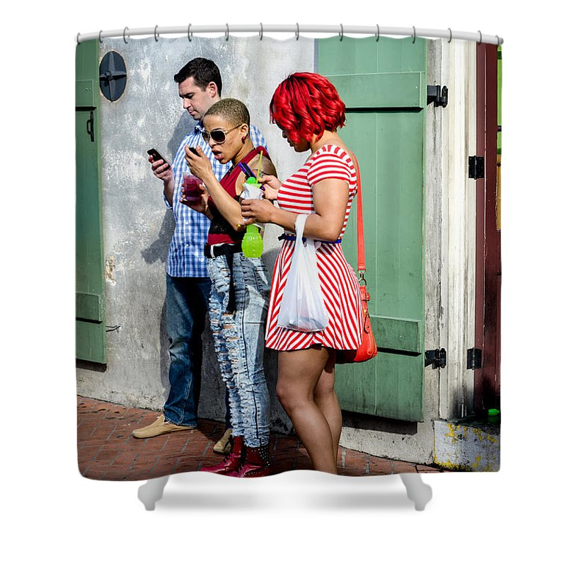 People Shower Curtain featuring the photograph Text Text Text by Kathleen K Parker