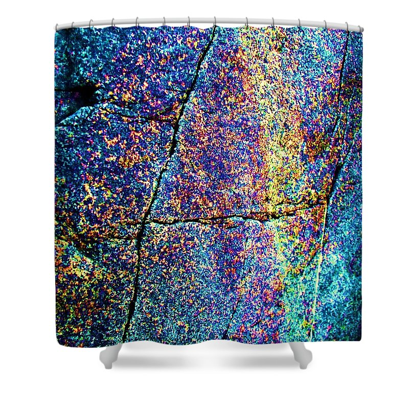 Texture Shower Curtain featuring the photograph Texture And Color Abstract by Eric Schiabor