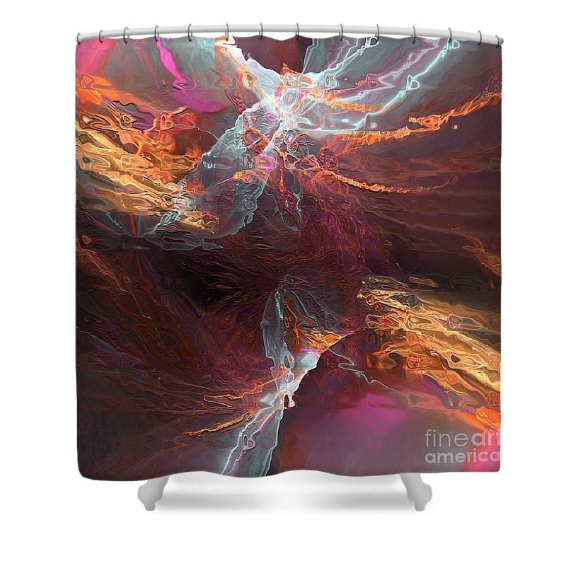 Water Shower Curtain featuring the digital art Texture Splash by Margie Chapman