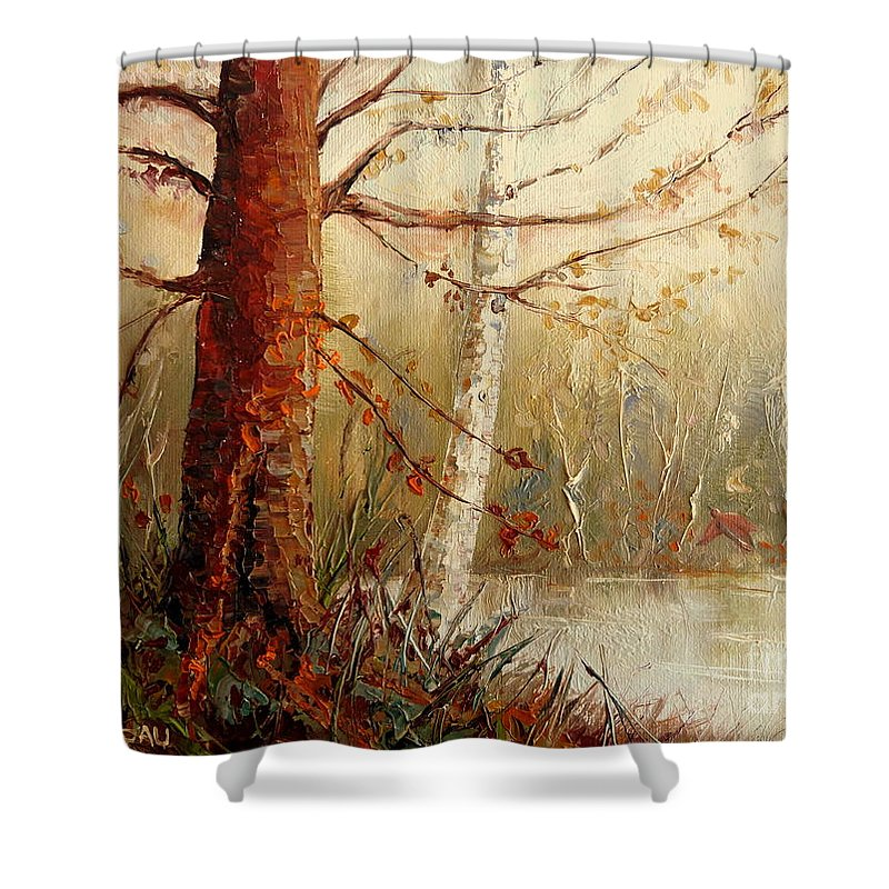 The African Prince Shower Curtain featuring the painting The African Prince by Carole Spandau