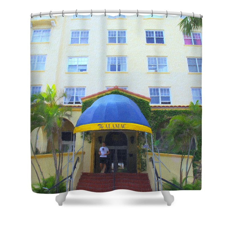 Art Deco Shower Curtain featuring the photograph The Almanac by Tom Reynen