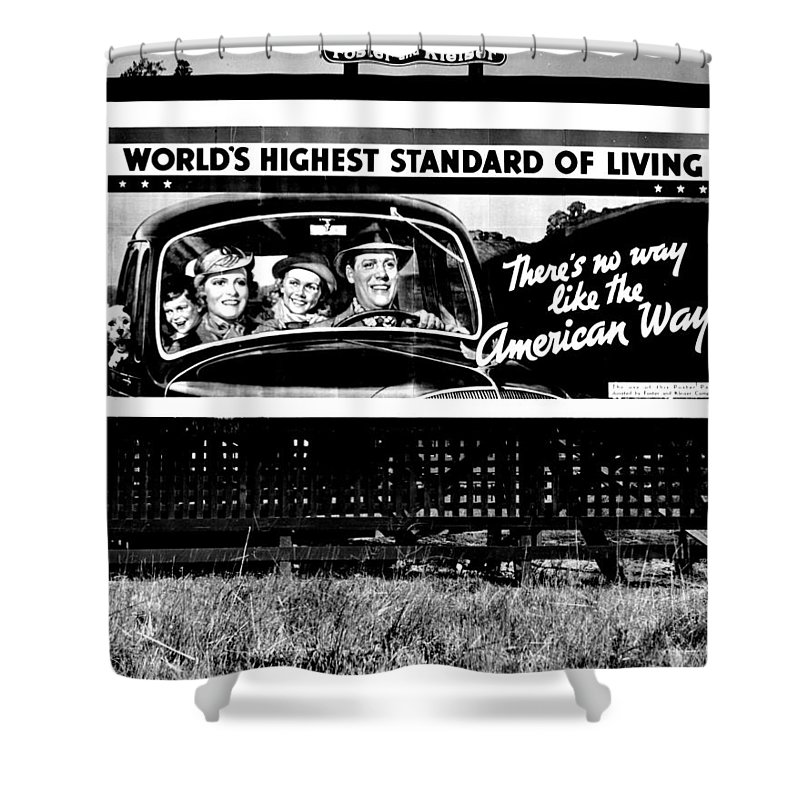 American Shower Curtain featuring the photograph The American Way - Standard Of Living by Benjamin Yeager