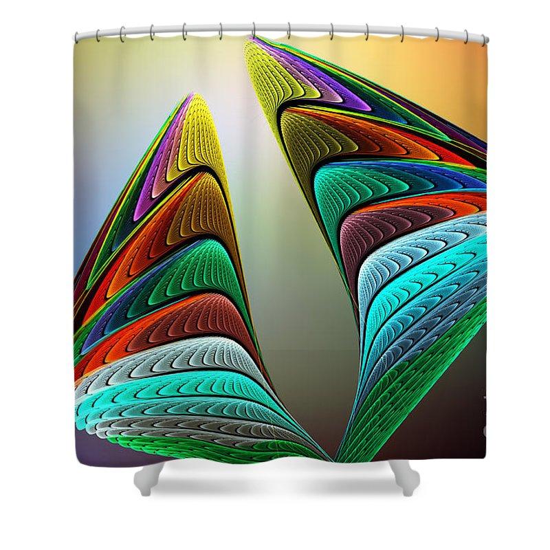 Angel Shower Curtain featuring the digital art The Angel Went To Sleep by Klara Acel