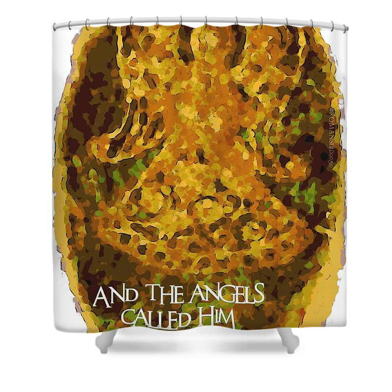 Christian Shower Curtain featuring the photograph The Angels Called Him Jesus by Michelle Greene Wheeler