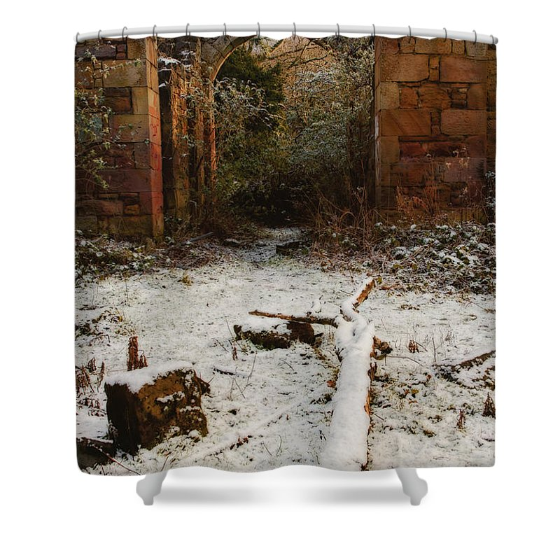 Arches Shower Curtain featuring the photograph Niddrie Home by Jean-Noel Nicolas