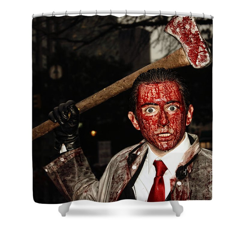 Axe Killer Shower Curtain Featuring The Photograph Murderer By Nishanth Gopinathan
