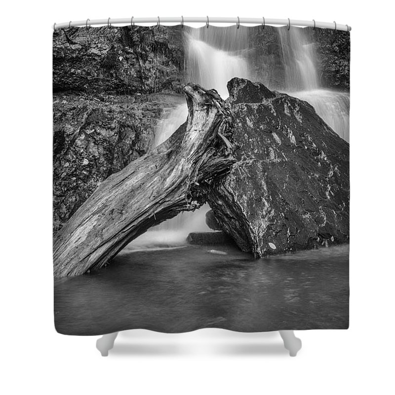 Waterfall Shower Curtain featuring the photograph The Base Of The Falls by Rick Berk