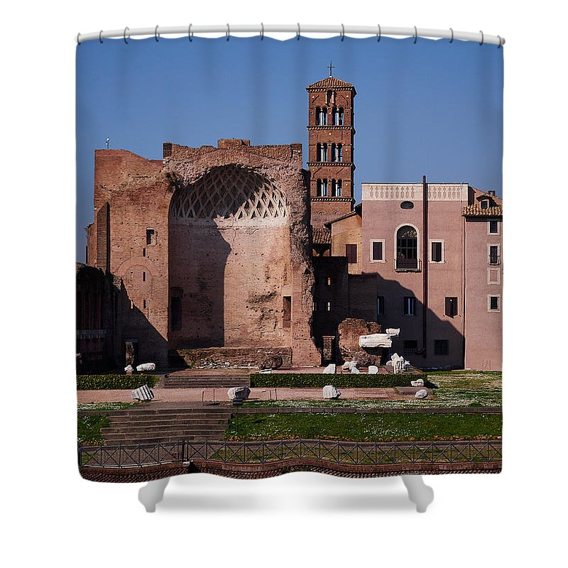 2013. Shower Curtain featuring the photograph The Basilica Of Constantine by Jouko Lehto