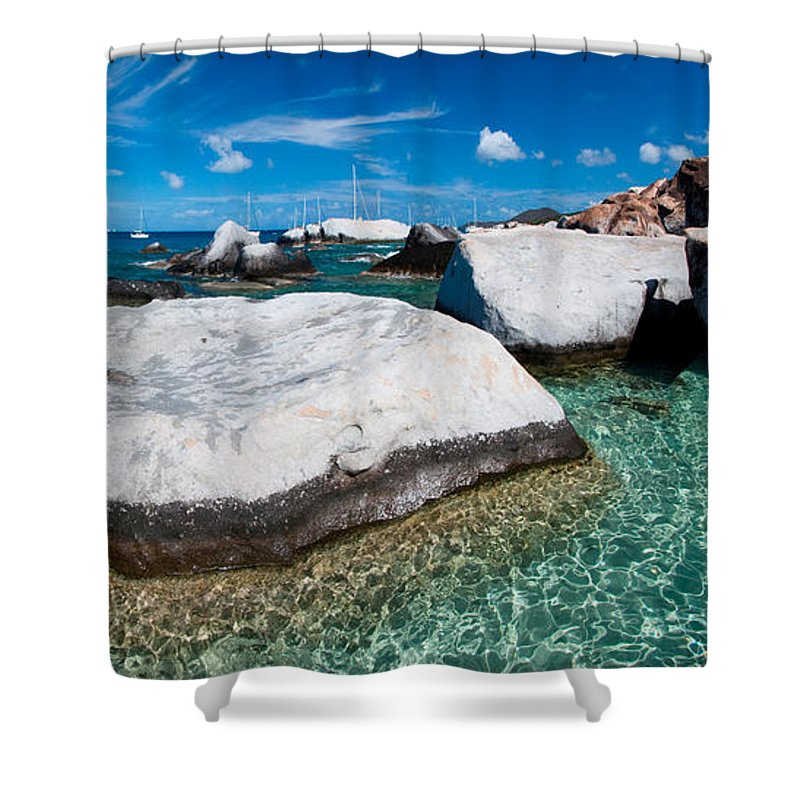3scape Shower Curtain featuring the photograph The Baths by Adam Romanowicz