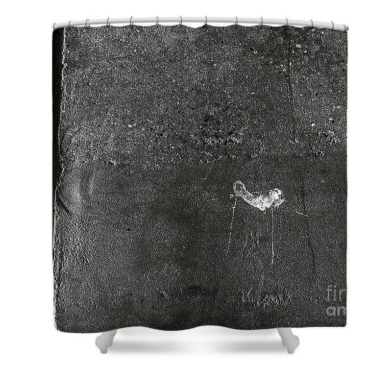 Black And White Photography Shower Curtain featuring the photograph The Beach by Fei A