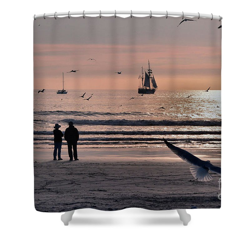Beach Shower Curtain featuring the photograph The Beach by Luv Photography