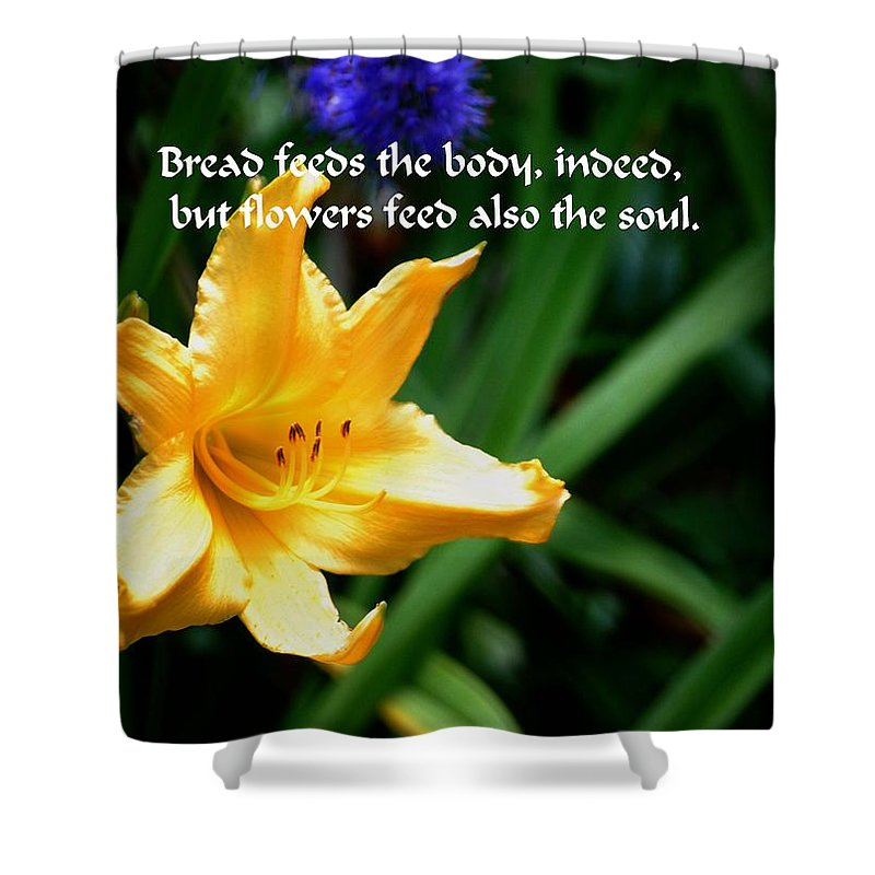 Yellow Shower Curtain featuring the photograph The Beauty Of Flowers by Gary Wonning