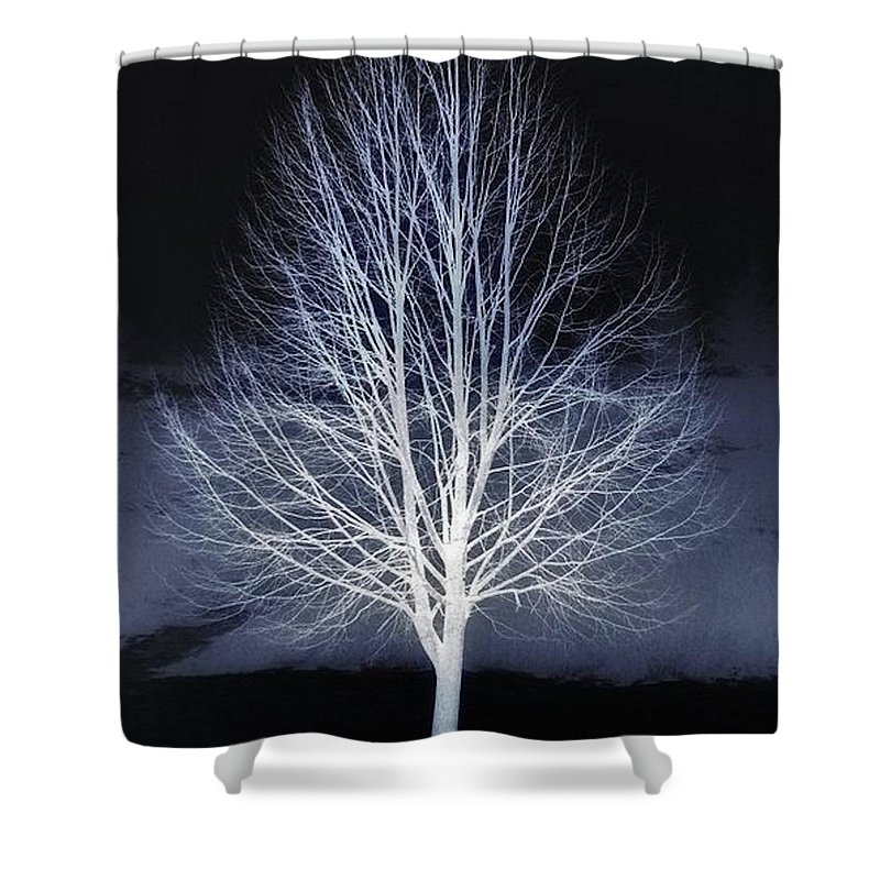 Winter Shower Curtain featuring the photograph The Beauty Of Maple Hill by Chet B Simpson