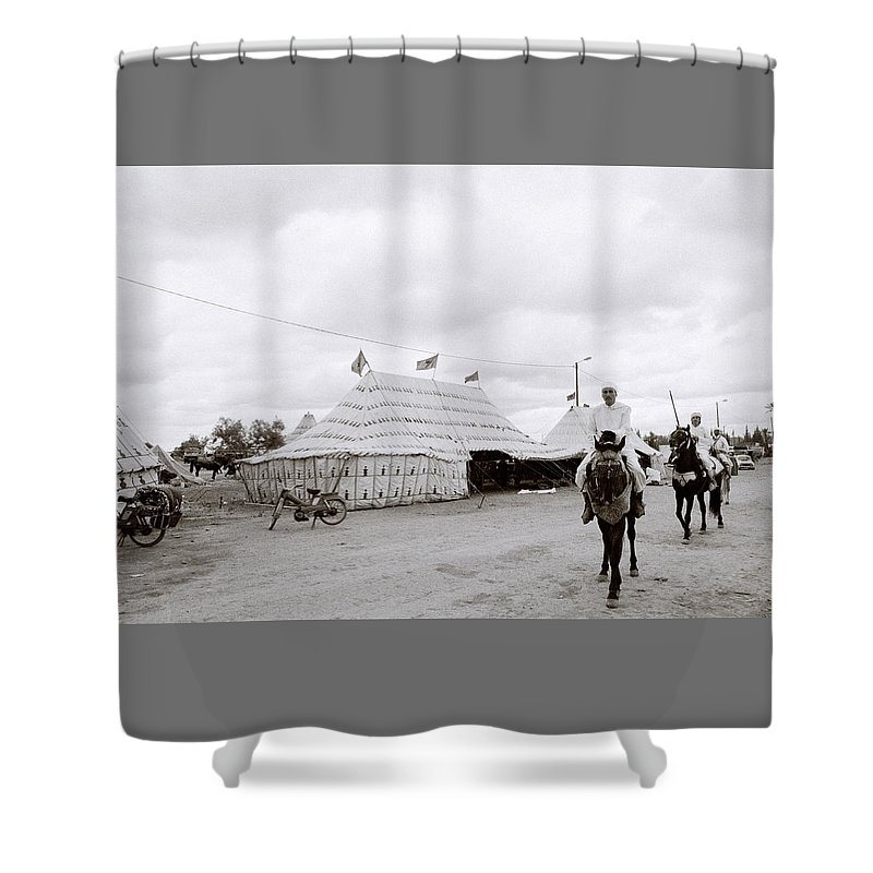 Horse Shower Curtain featuring the photograph The Berber by Shaun Higson