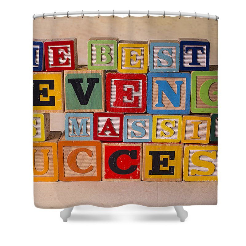 The Best Revenge Is Massive Success Shower Curtain featuring the photograph The Best Revenge Is Massive Success by Art Whitton