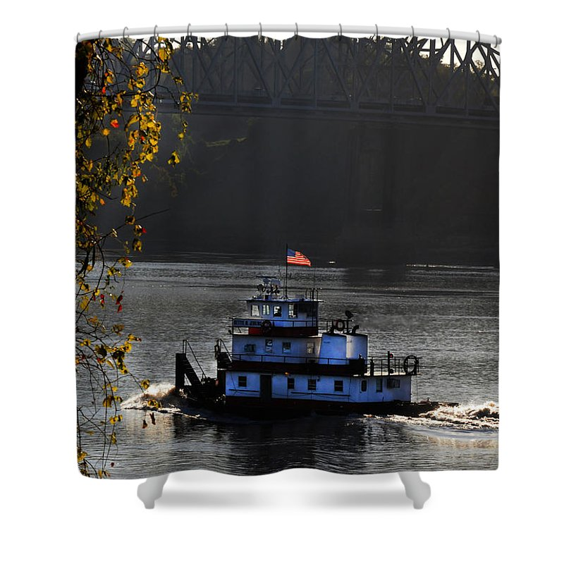 Tugboat Shower Curtain featuring the photograph the BettyeJenkins by Leon Hollins III