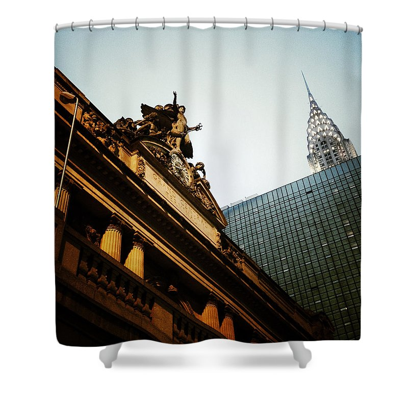 Grand Central Shower Curtain featuring the photograph The Big Apple by Natasha Marco