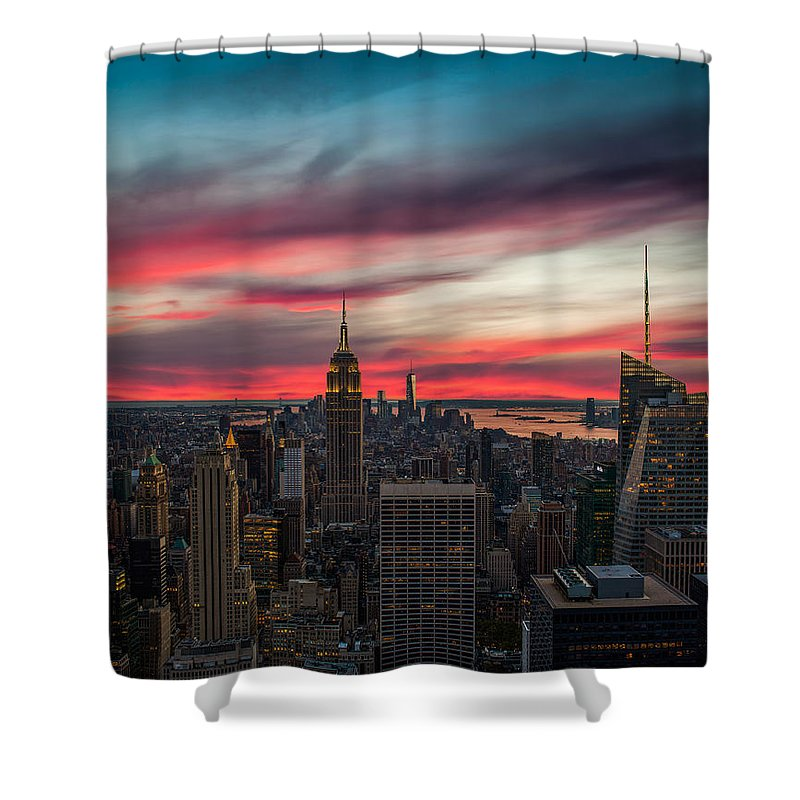 New York City Skyline Shower Curtains