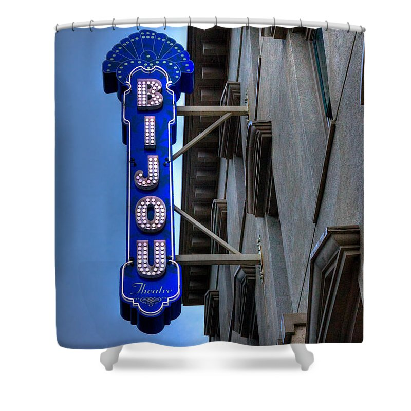 Tennessee Shower Curtain featuring the photograph The Bijou Theatre - Knoxville Tennessee by David Patterson