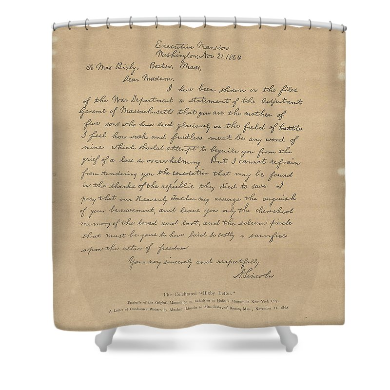The Bixby Letter Shower Curtain featuring the painting The Bixby Letter by Celestial Images