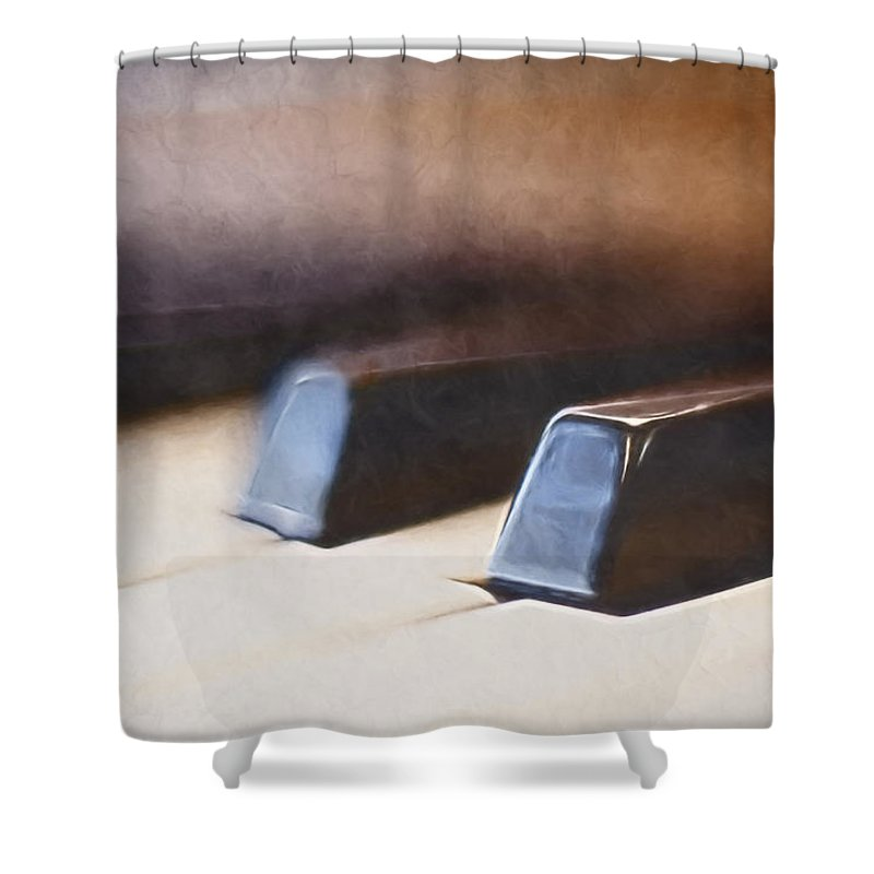 Piano Shower Curtain featuring the photograph The Black Keys by Scott Norris
