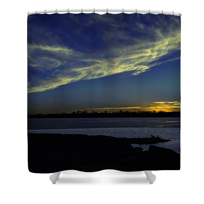 Sunset Shower Curtain featuring the photograph The Blue Hour Sunset by Deb Buchanan